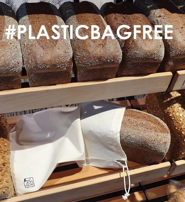 Plastic bag free dag: katoenen broodzakken verkrijgbaar