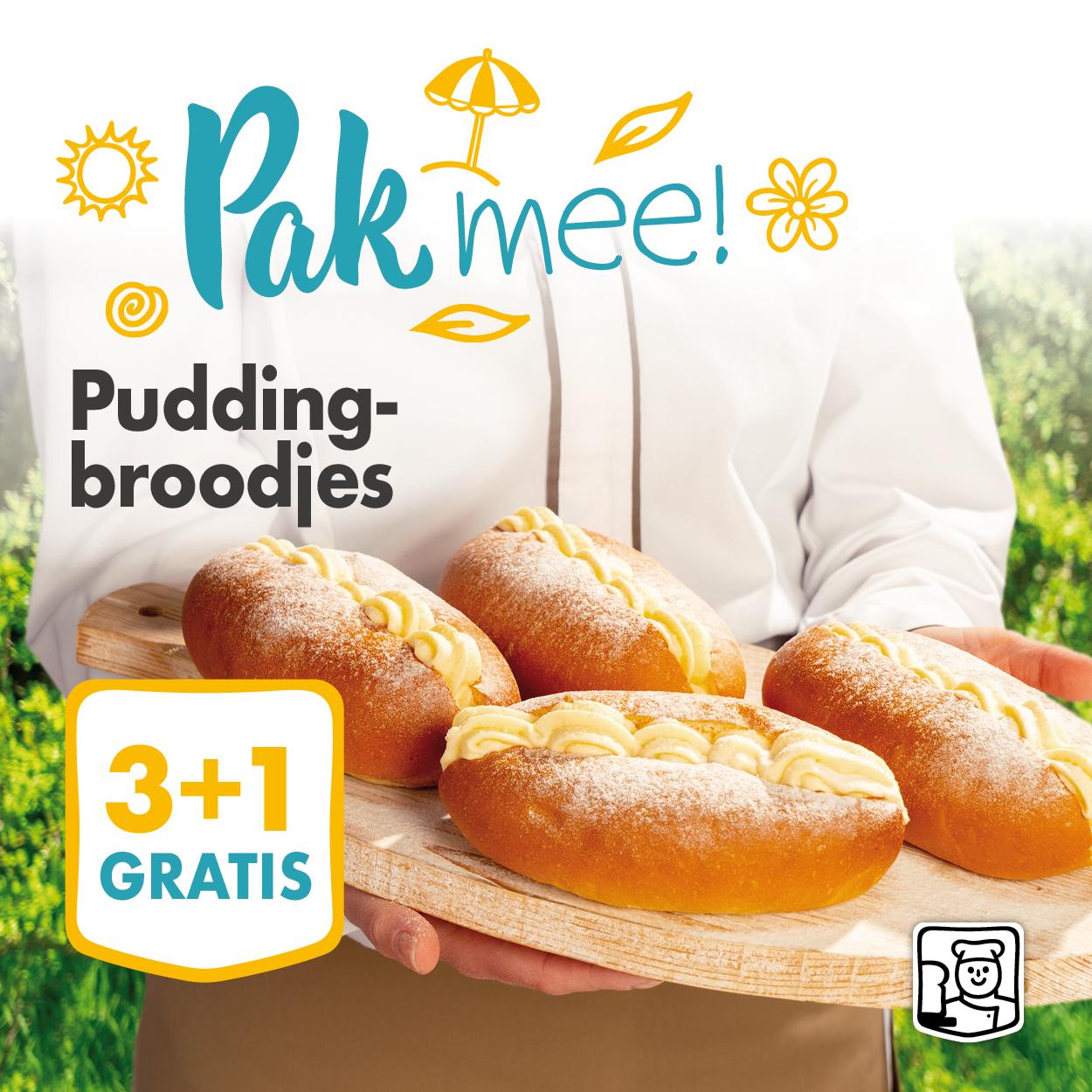 Puddingbroodjes vier halen drie betalen