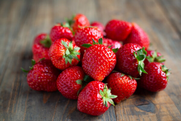 Verse aardbeien producten